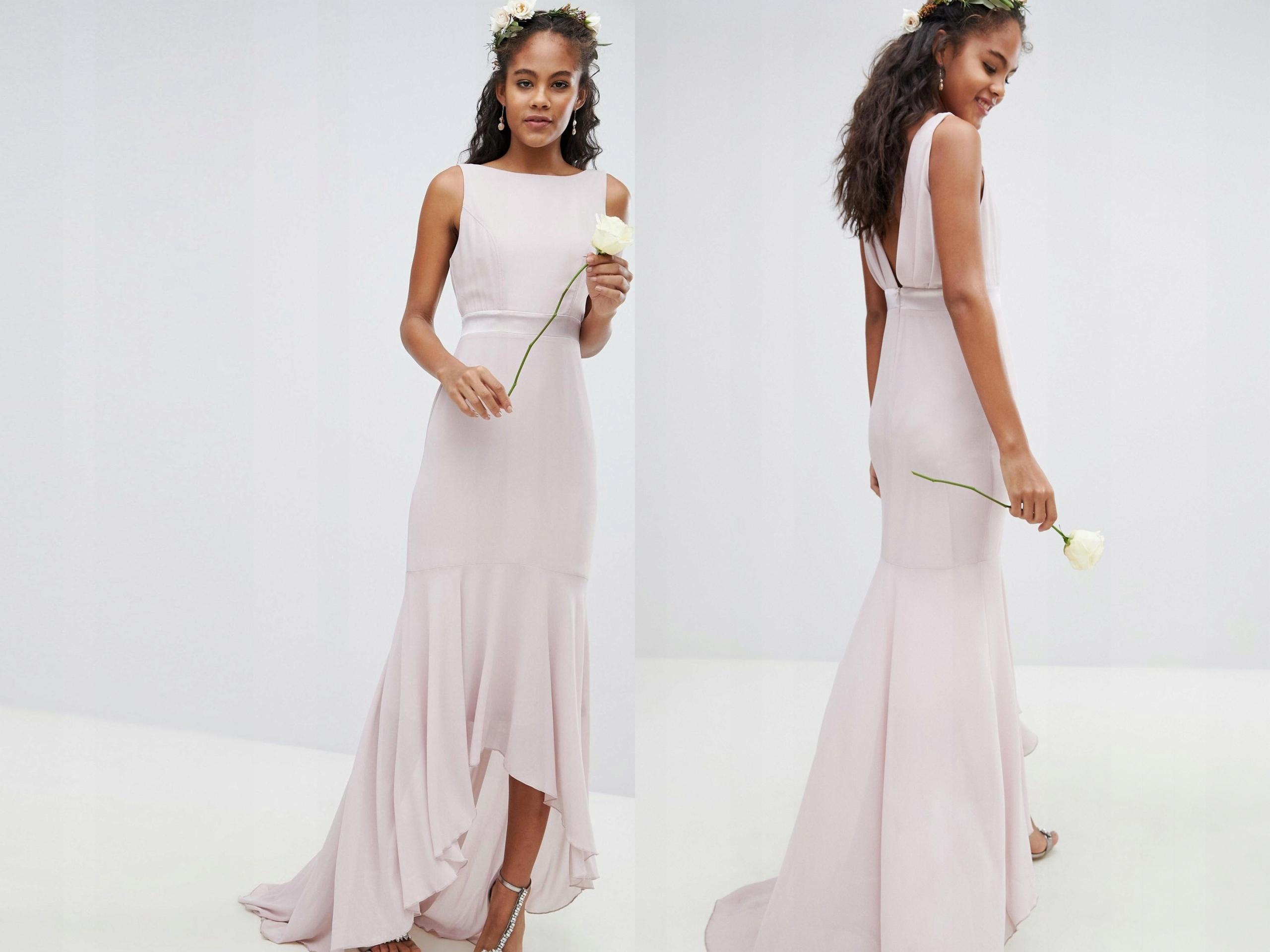 8521fbf9 Fioletowa asymetryczna sukienka S/36