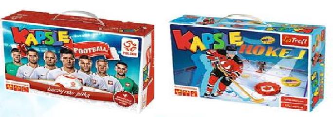 Kapsle Łączy nas piłka + Kapsle Hokej