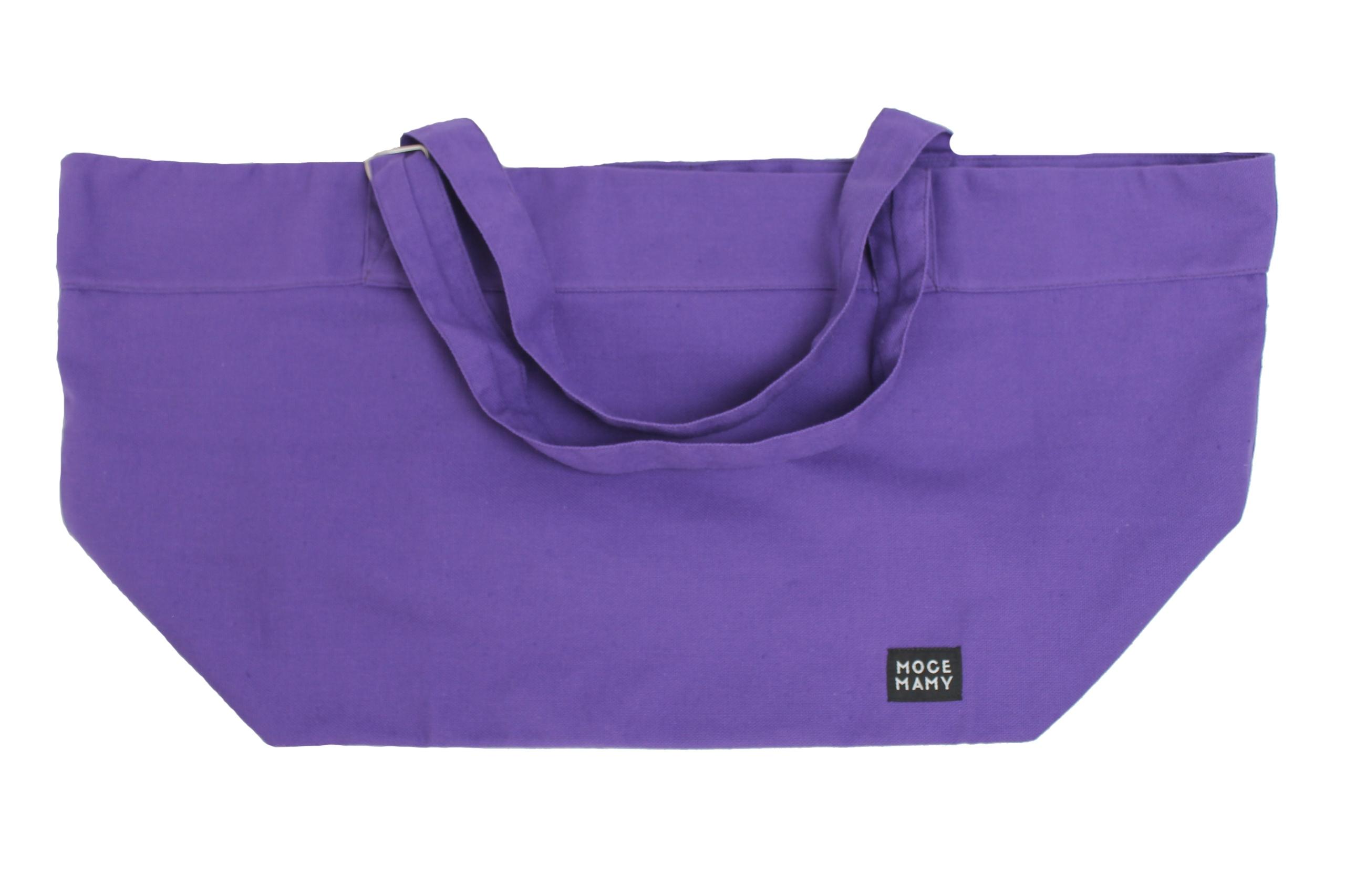 e8d2c8d7e3ad4 Uniwersalna duża bawełniana torba Moce Mamy fiolet - 7573661299 ...