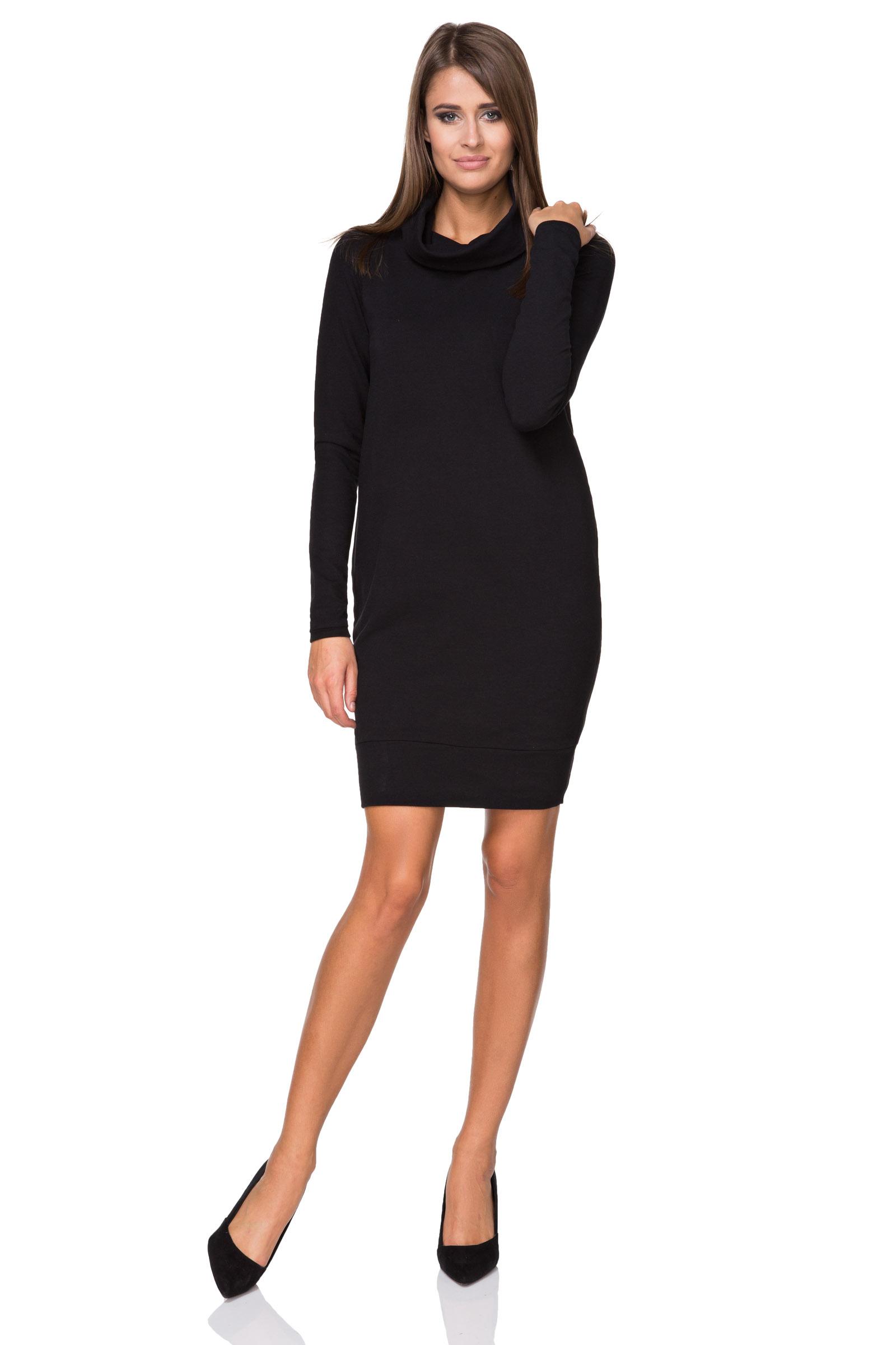 01b1eac5db TESSITA Sukienka dresowa z golfem czarny XL - 7047406254 - oficjalne ...