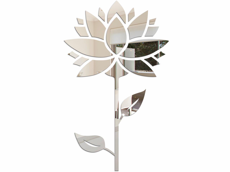 Duże Lustro Dekoracyjne Akrylowe Kwiaty Sunflower