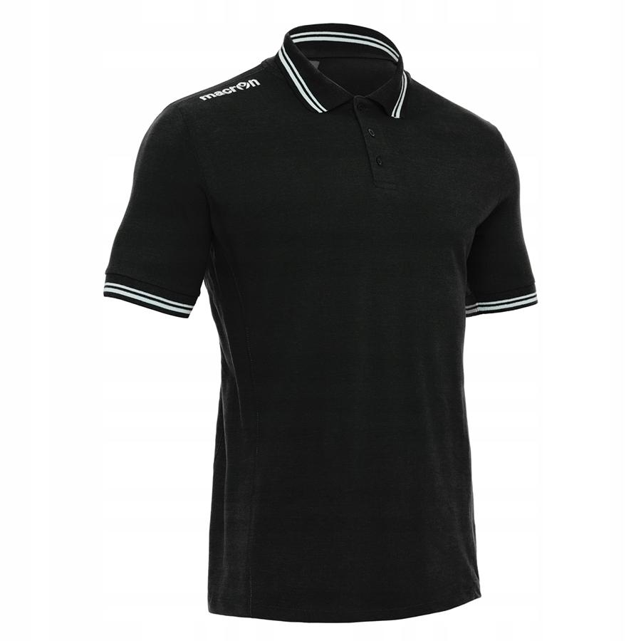 Koszulka polo Macron Loira czarna XS bawełna