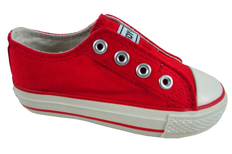 Hiszpańskie Trampki Dziecięce ANDY Z Czerwony R 25