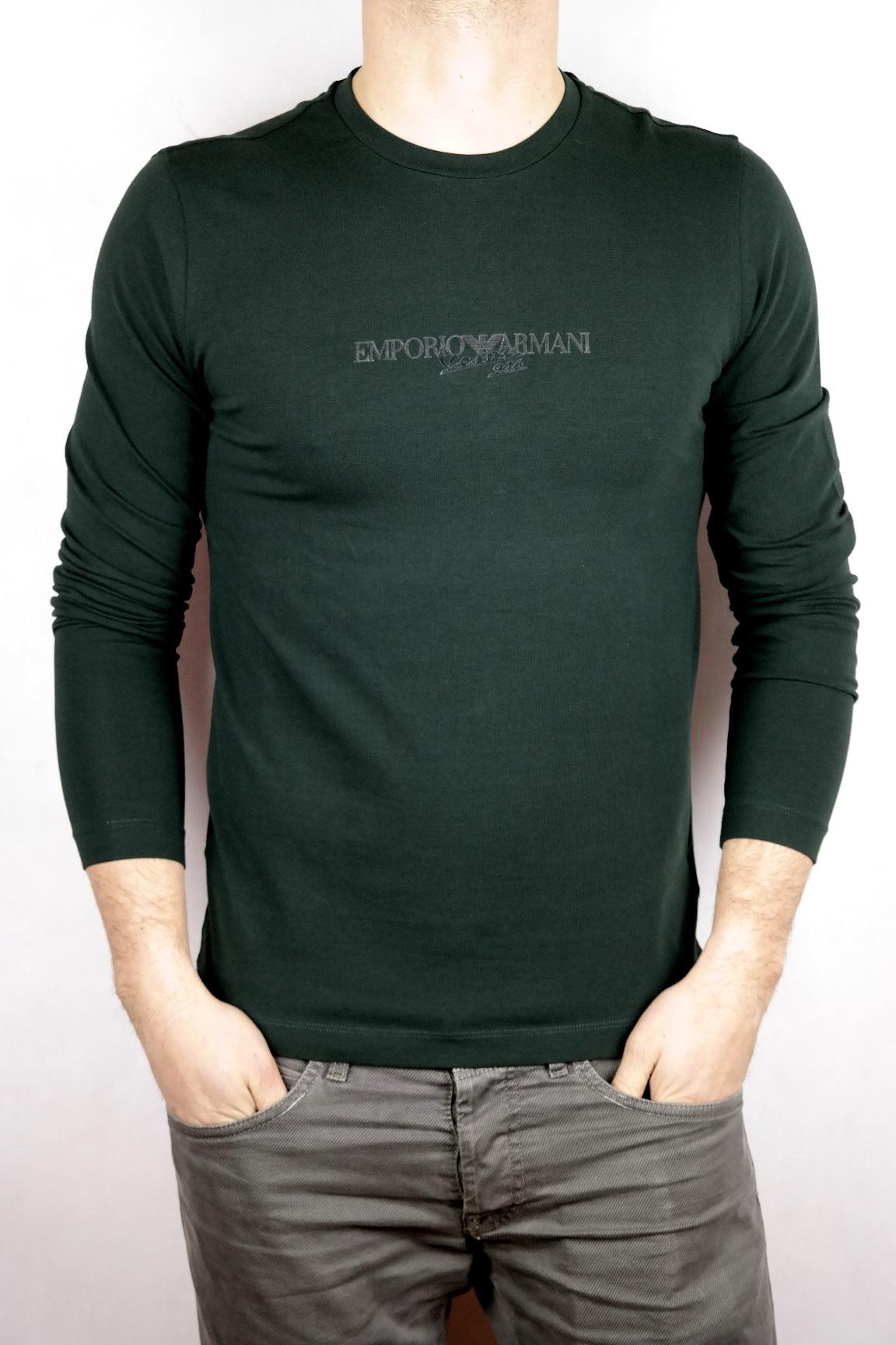 133287aea6b64c ARMANI JEANS longsleeve męski T-shirt z długim S - 6966663902 ...
