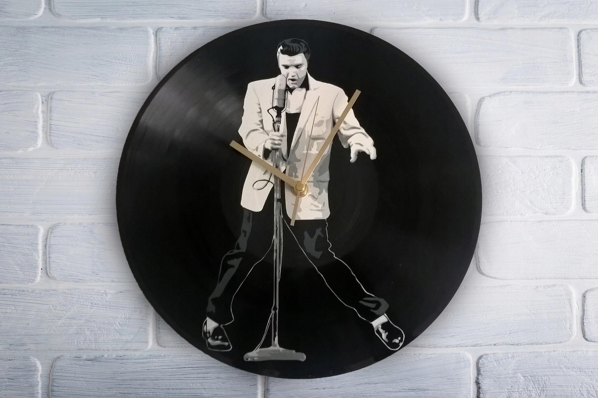 Elvis Presley Zegar z płyty winylowej