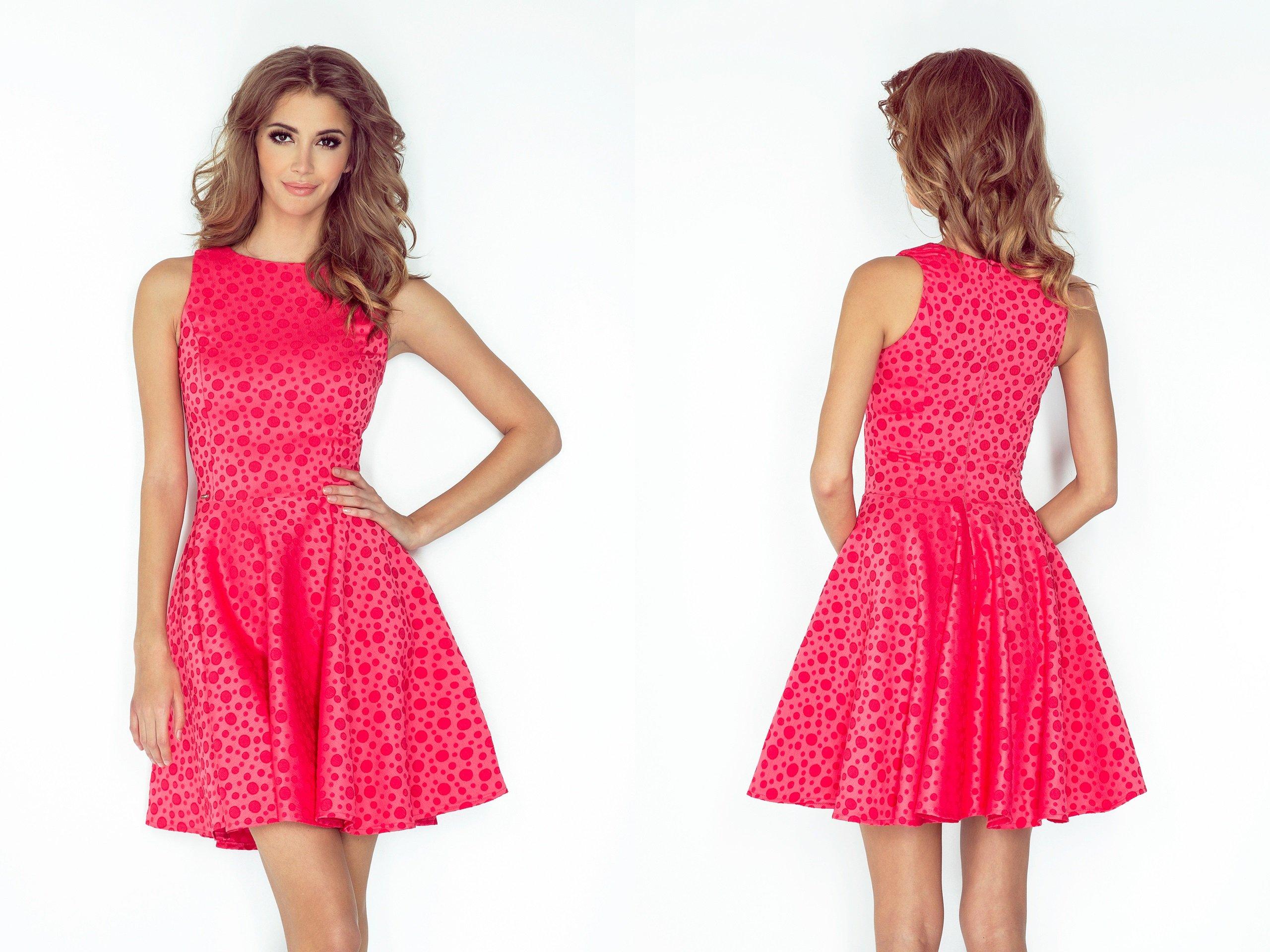 75c1de48b6f466 SEXY Sukienka NA WESELE ROZKLOSZOWANA 125-13 S 36 - 7258563080 ...