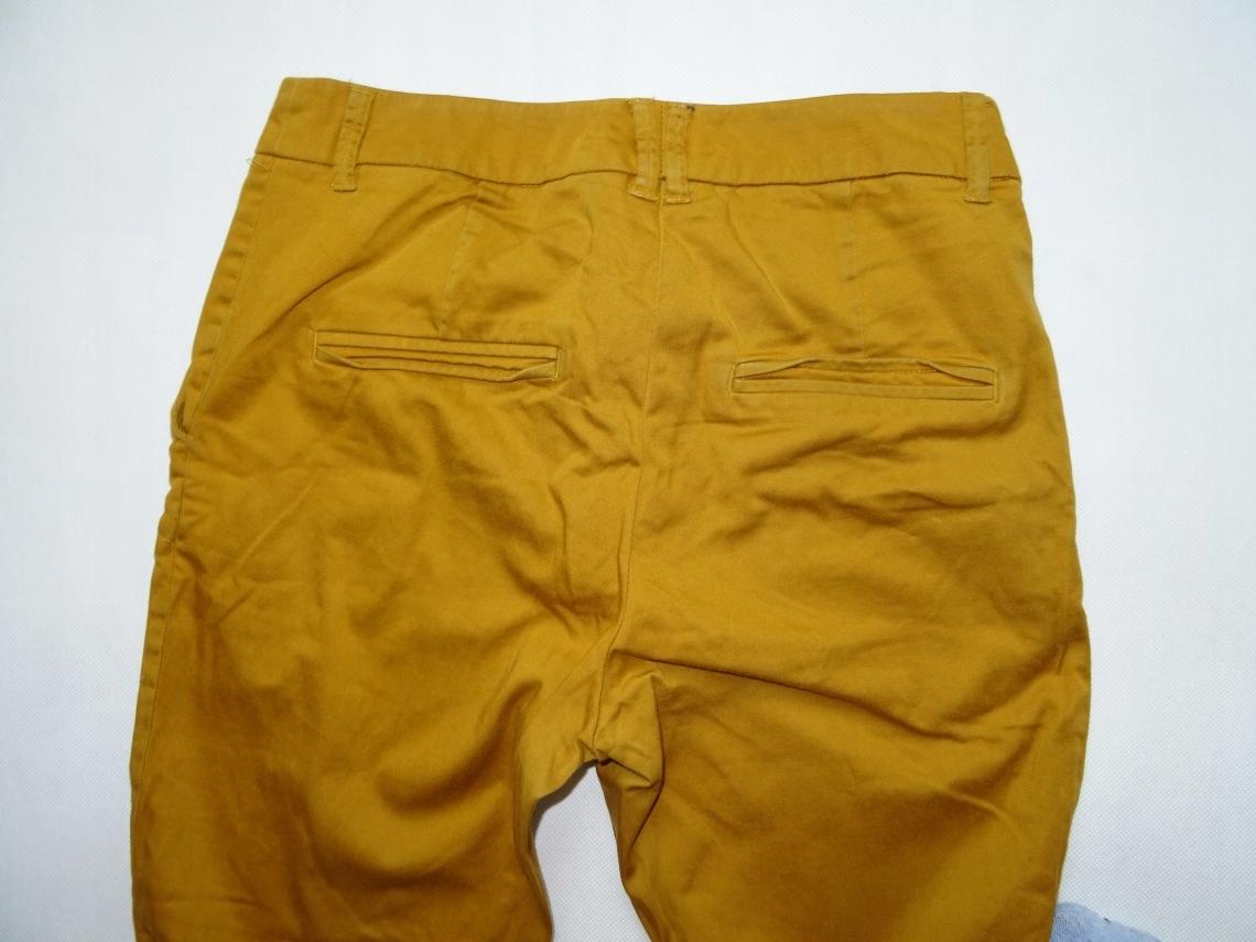 095b78d740 H M spodnie CHINOS 7 8 musztardowe - 34 XS - 7487173349 - oficjalne ...