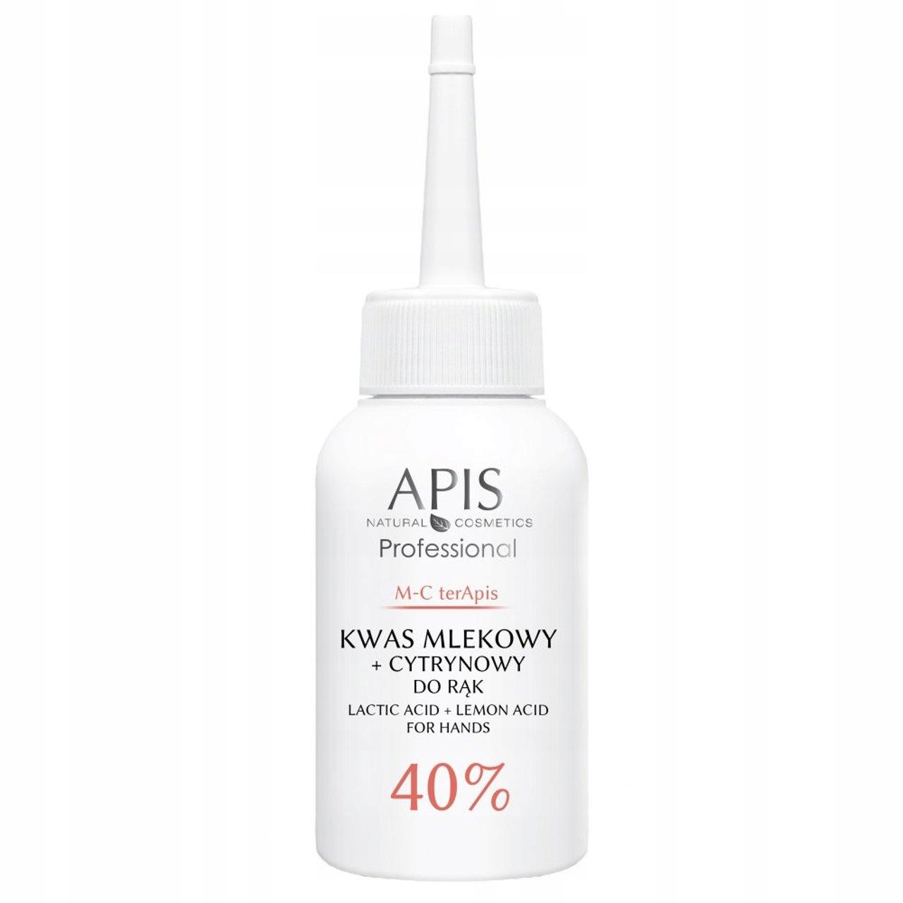 APIS Grapefruit Kwas mlekowy cytrynowy do rąk 40%