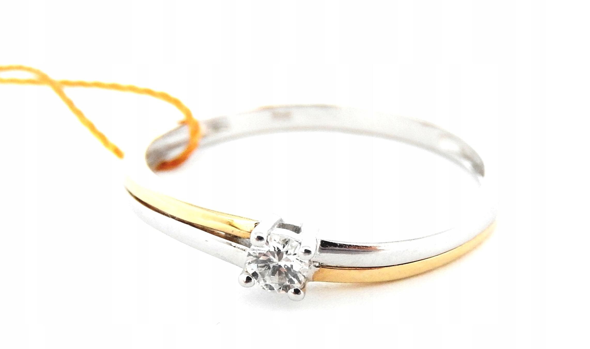 Piękny Złoty Pierścionek Brylant Verona 585 R 15 6975325466