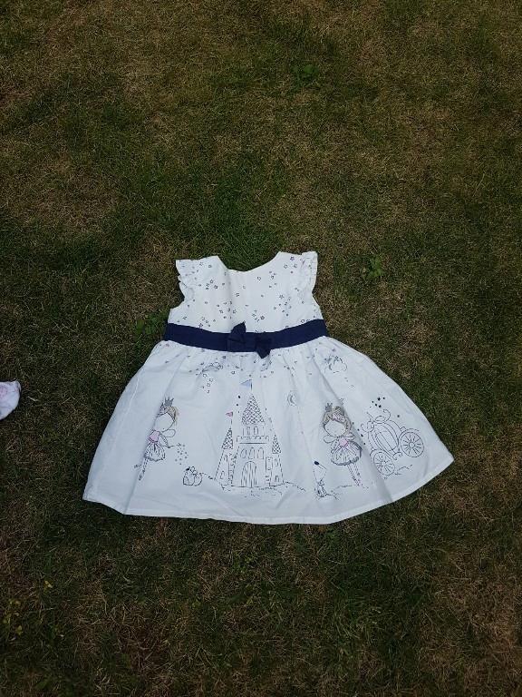 piękna sukienka early days rozm 3-6 mies 68 cm