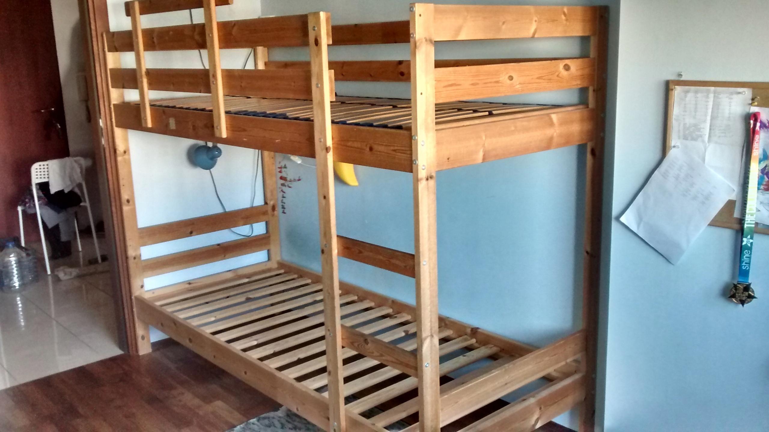 łóżko Piętrowe 80x200 Ikea Mydal Rama łóżka