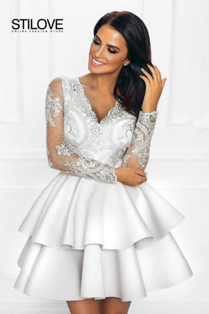 1309e7053a śliczna Biała Sukienka Idealna Ba ślub Cywilny 7276562202