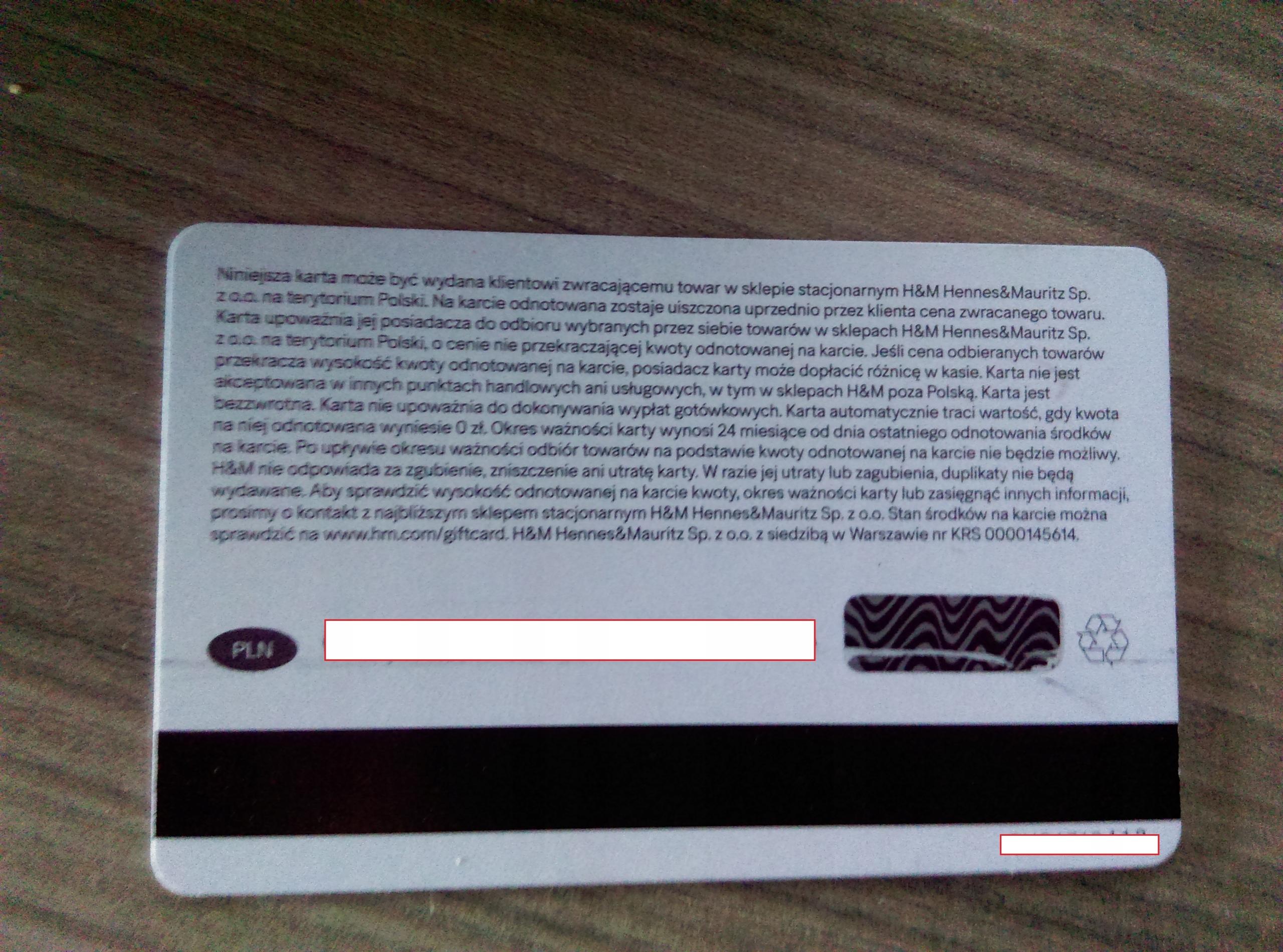 H M Karta Podarunkowa Gift Card 150zl 7628648353 Oficjalne