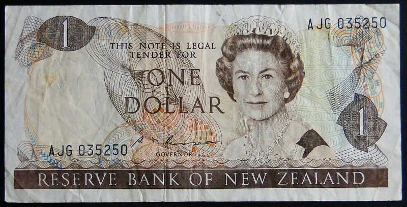 1987 New Zeland Elżbieta II - 1 dolar