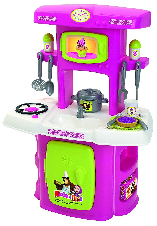 161c6 Smoby Zabawkowa Kuchnia Masza I Niedźwiedź