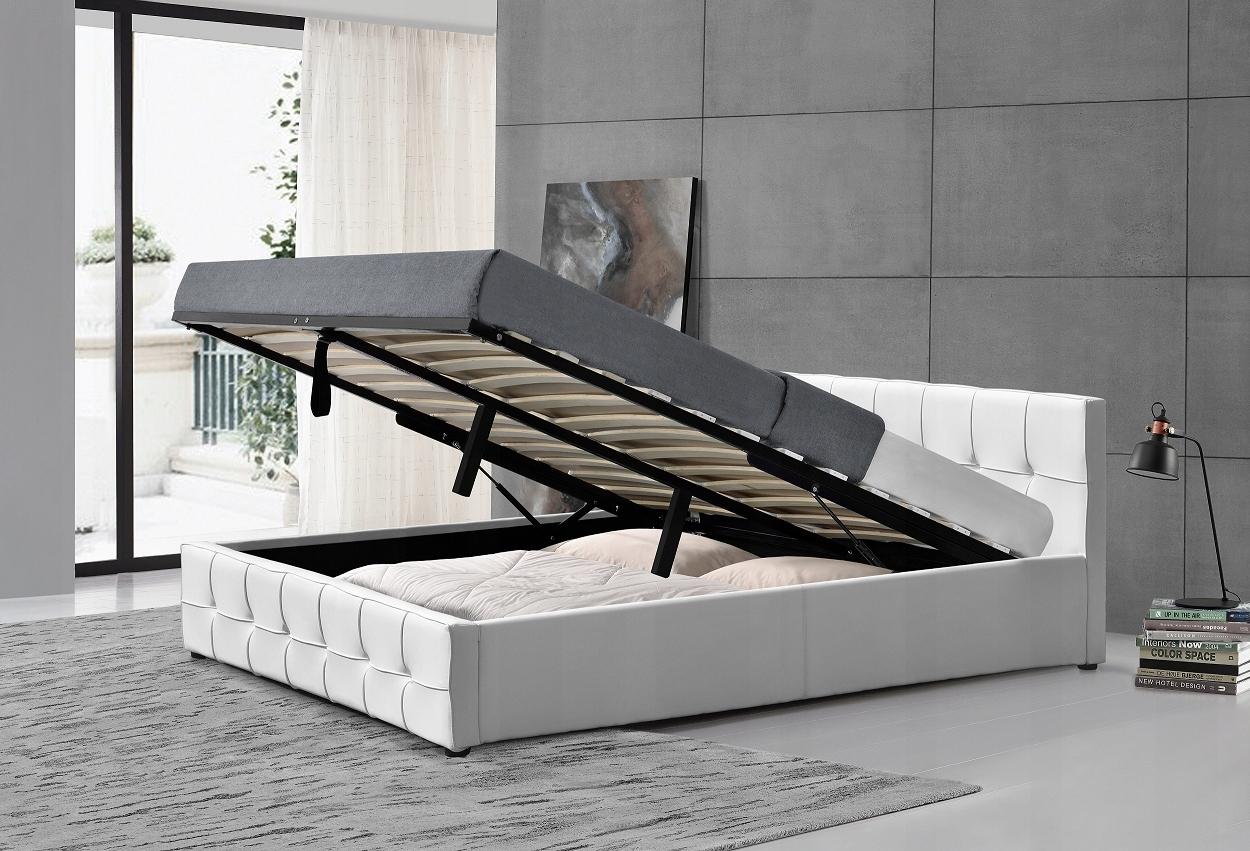 łóżko Tapicerowane 140x200 Wysyłka Gratis Białe 7591629561