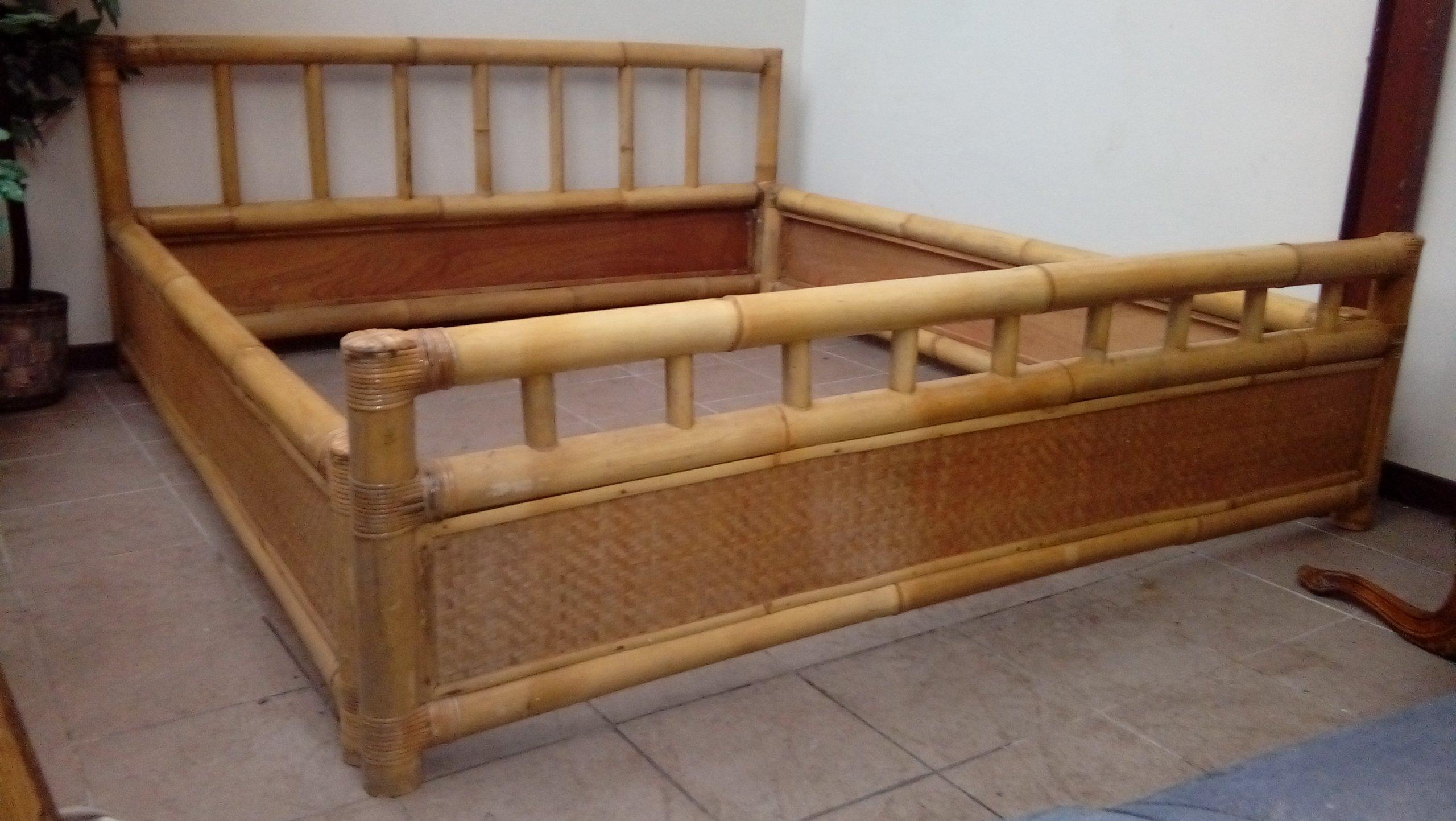 łóżko Bambus Bambusowe Masywne Sypialnia S18 7242200310