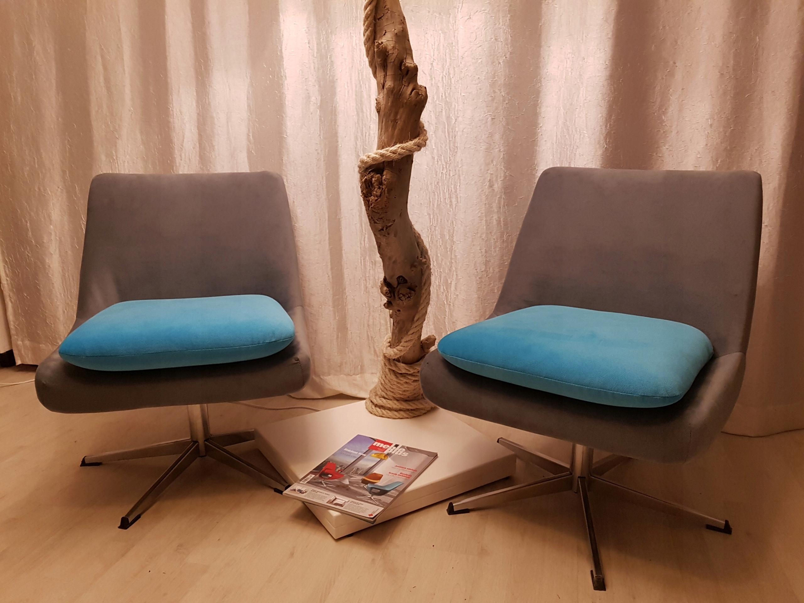 Fotel Klubowy Obrotowy Muszelka Loft Prl 7535386127