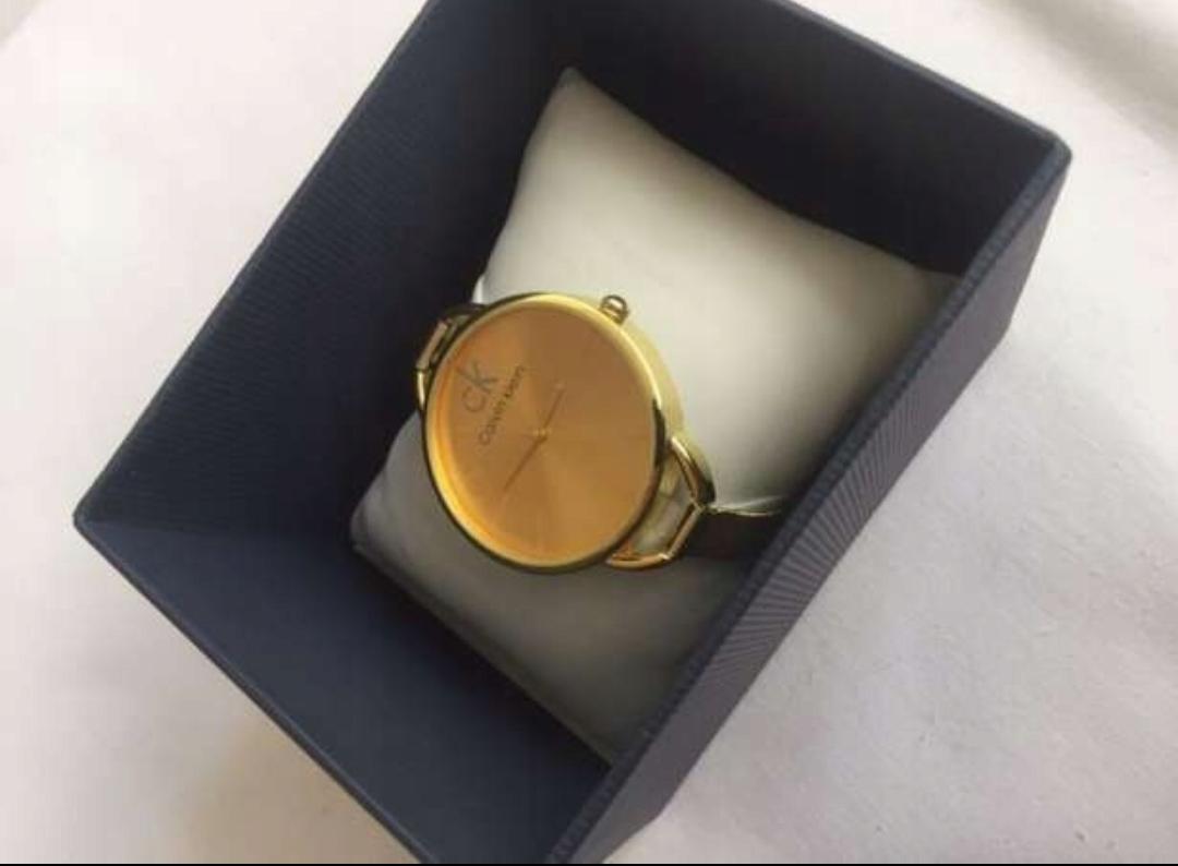 13bc58a27eafd3 Zegarek CK Calvin Klein logowany NOWY # Gold/Złoty - 7748895069 ...