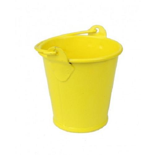 Doniczka Osłonka Metalowe Wiaderko żółte 8 Cm 7025529326