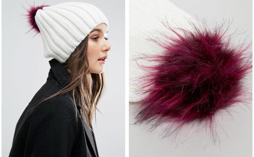 nowa ASOS pompon cudo zima czapka