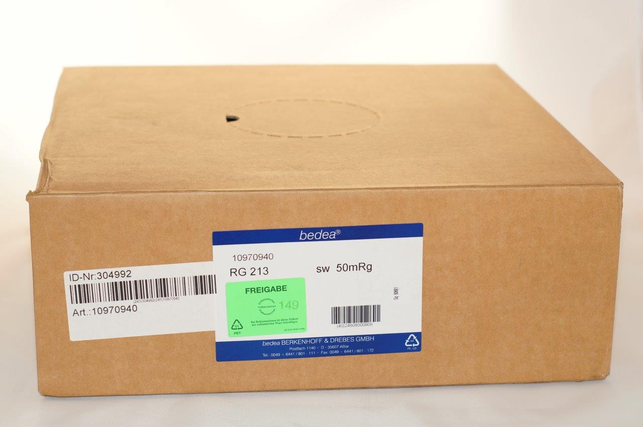 Kabel bedea RG 213 karton 65mt Made in Germany
