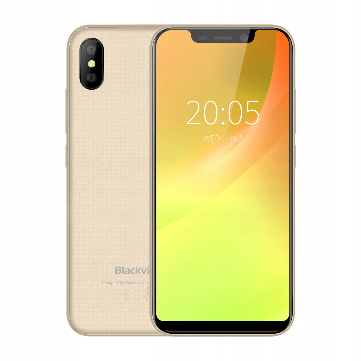 BLACKVIEW A30 FACE ID, DUAL CAMERA + ETUI !! Złoty