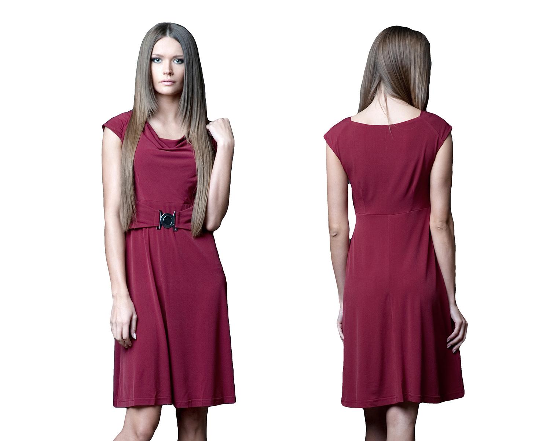 2a26759bdf Elegancka sukienka wizytowa pas z klamrą 38 M - 7109078408 ...