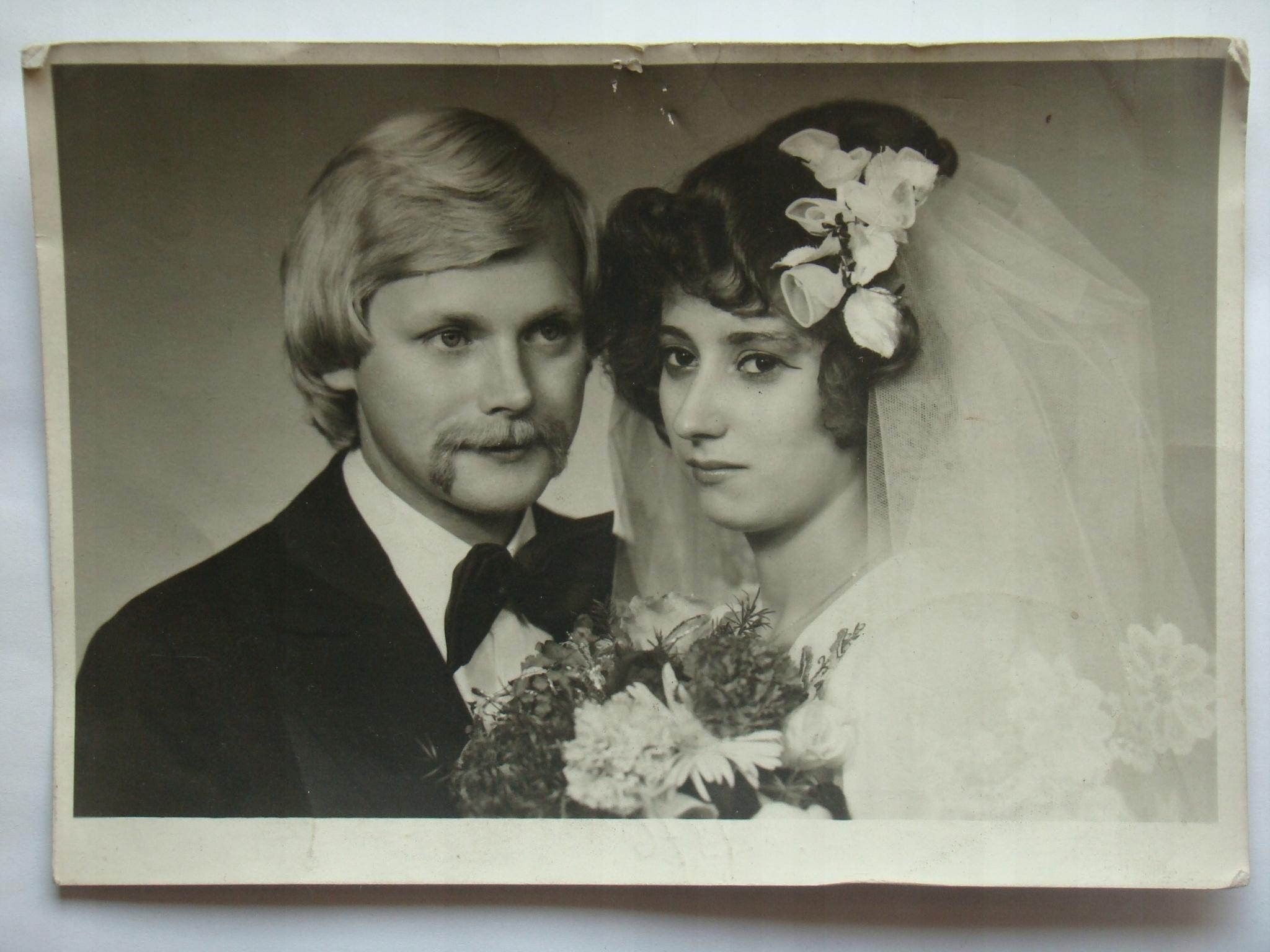 Para ślubna Bielsko Biała 1976 7546672198 Oficjalne Archiwum Allegro