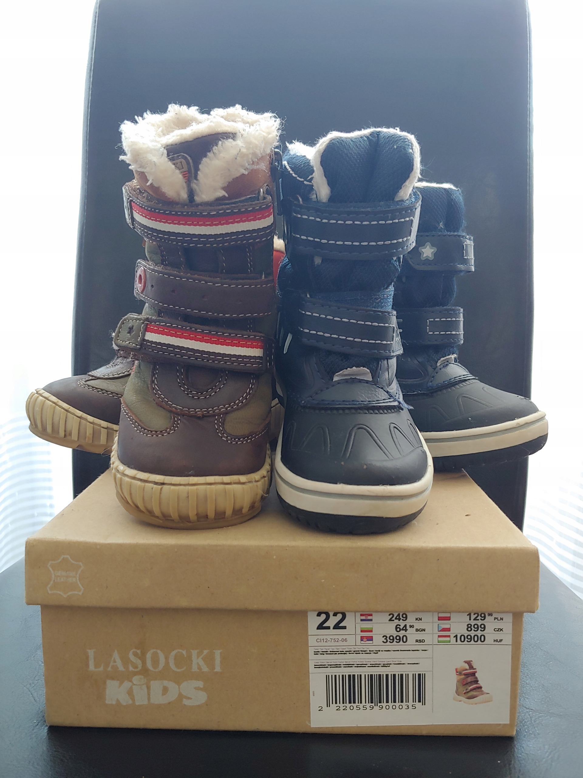 359fb96141e51 Kozaczki Lasocki Kids skóra + Śniegowce Lidl, 22 - 7658335604 ...