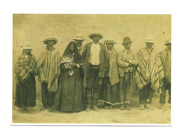 Pocztówka - Indianie Catchagui - Argentyna, XIX w.