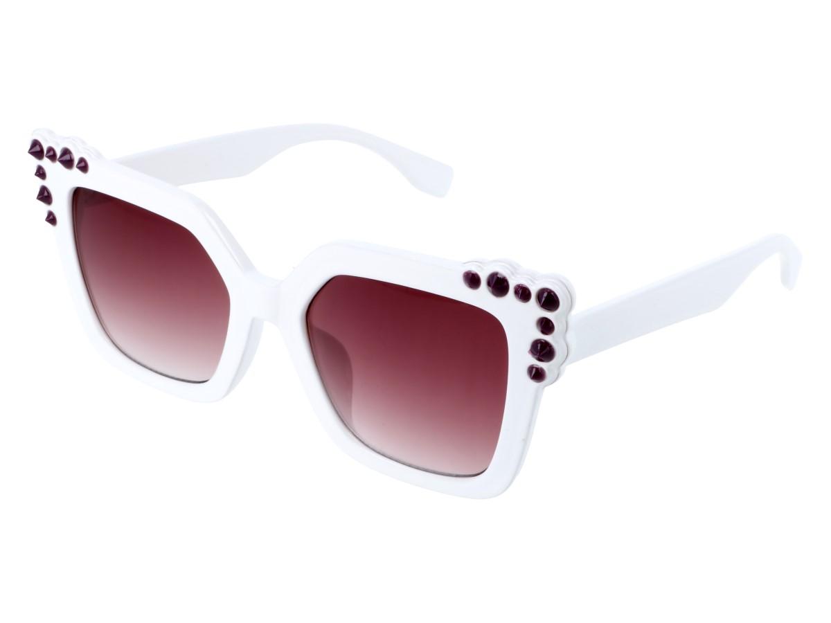 51370128448887 Okulary słoneczne damskie kocie oko cat Glam białe - 7220859948 ...