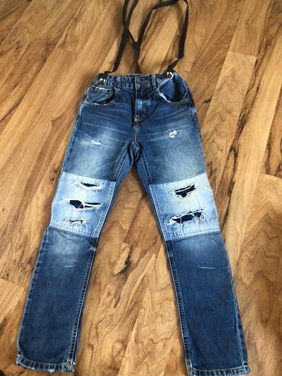 Spodnie chłopiec Zara 140 zestaw