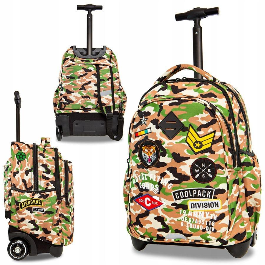 d7905ee40b814 Młodzieżowy męski plecak na kółkach z rączką lekki - 7736742561 ...