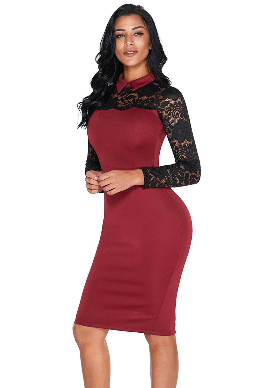 53bcf60c73 elegancka sukienka dopasowana z kołnierz - 7212873254 - oficjalne ...