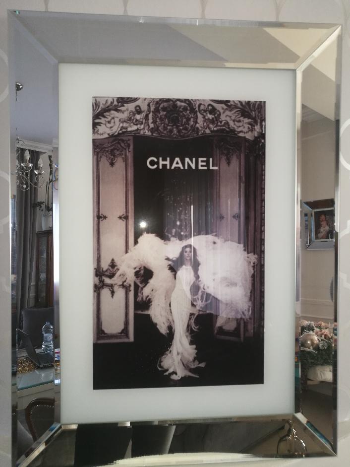 Obraz Chanel W Lustrzanej Ramie 76x56 7126829720 Oficjalne