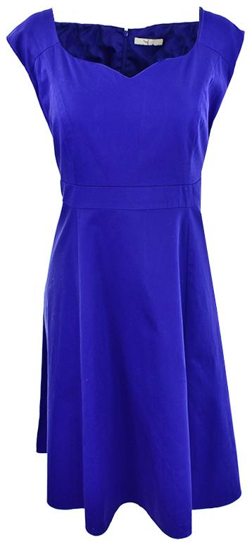 lZ1465 niebieska sukienka koktajlowa  46/48
