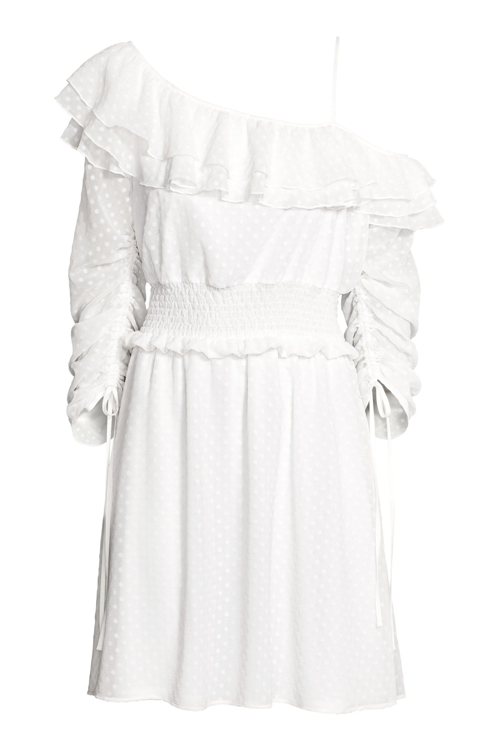 2fb6a1e206 Sukienka boho falbany H M trend biała 42 HIT - 7232680966 ...