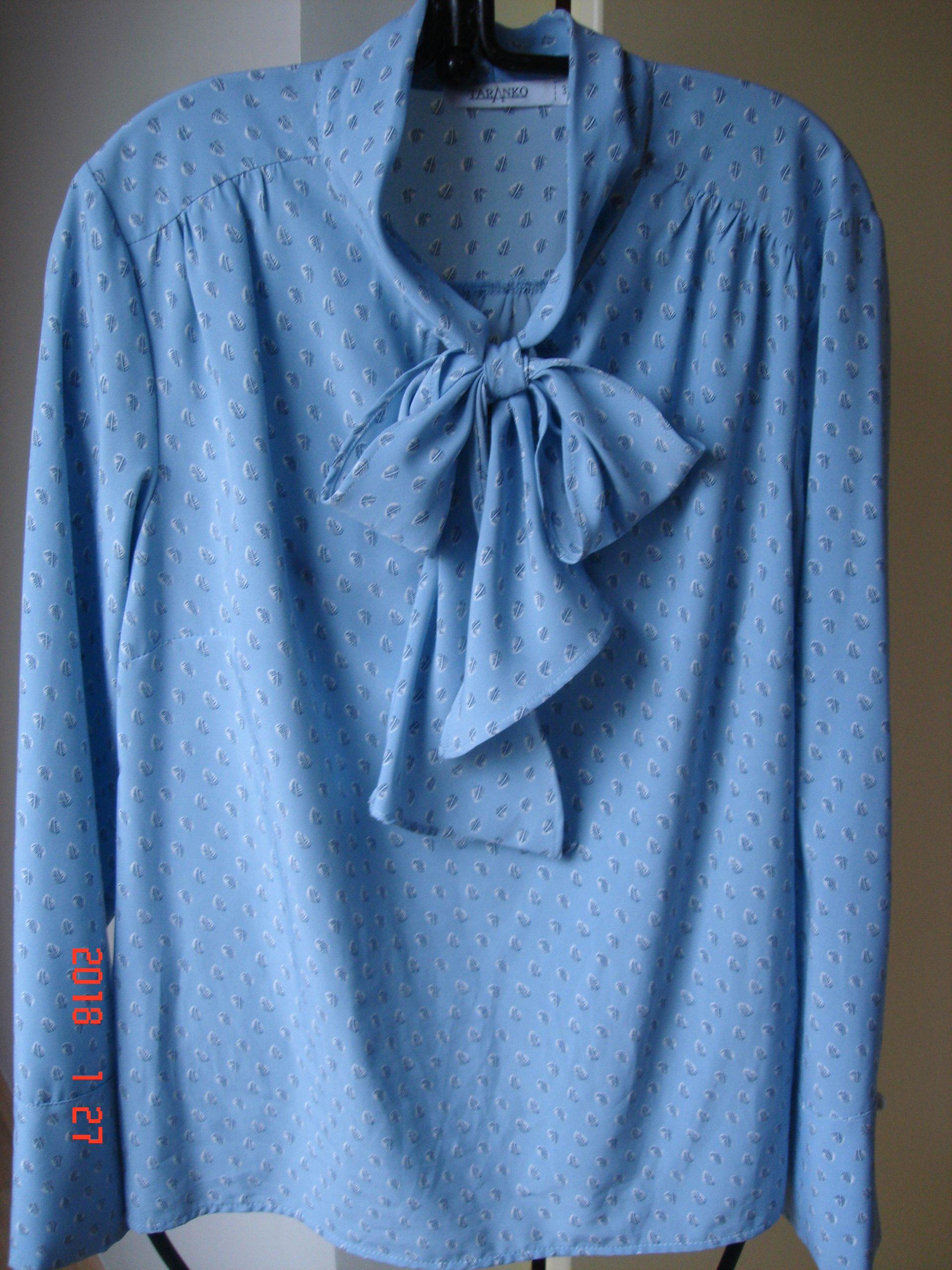 4cf0bcda36 Taranko- bluzka niebieska z wzorem