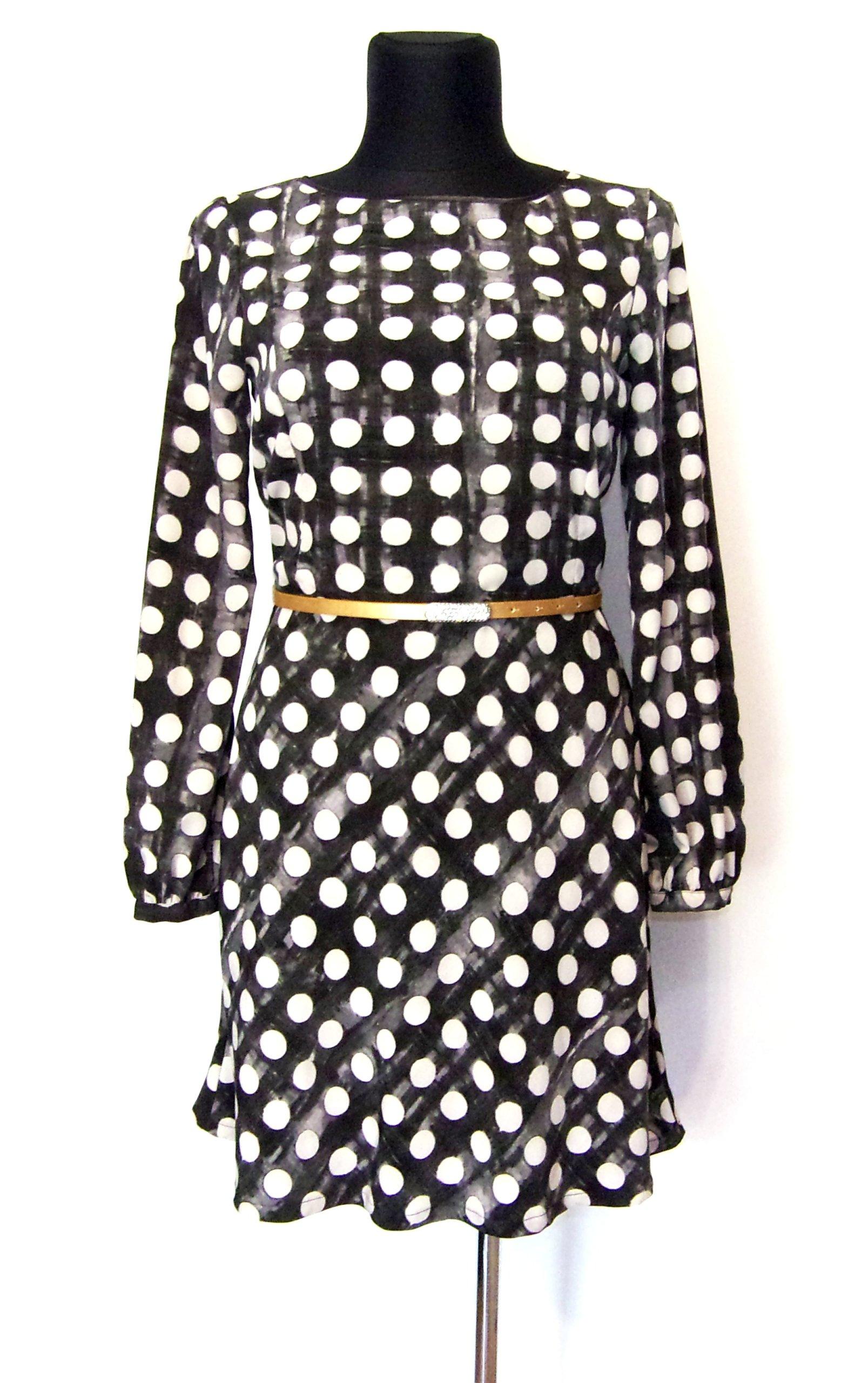 c71ef08d78 SISLEY śliczna sukienka w grochy 40 42 - 7352580788 - oficjalne archiwum  allegro