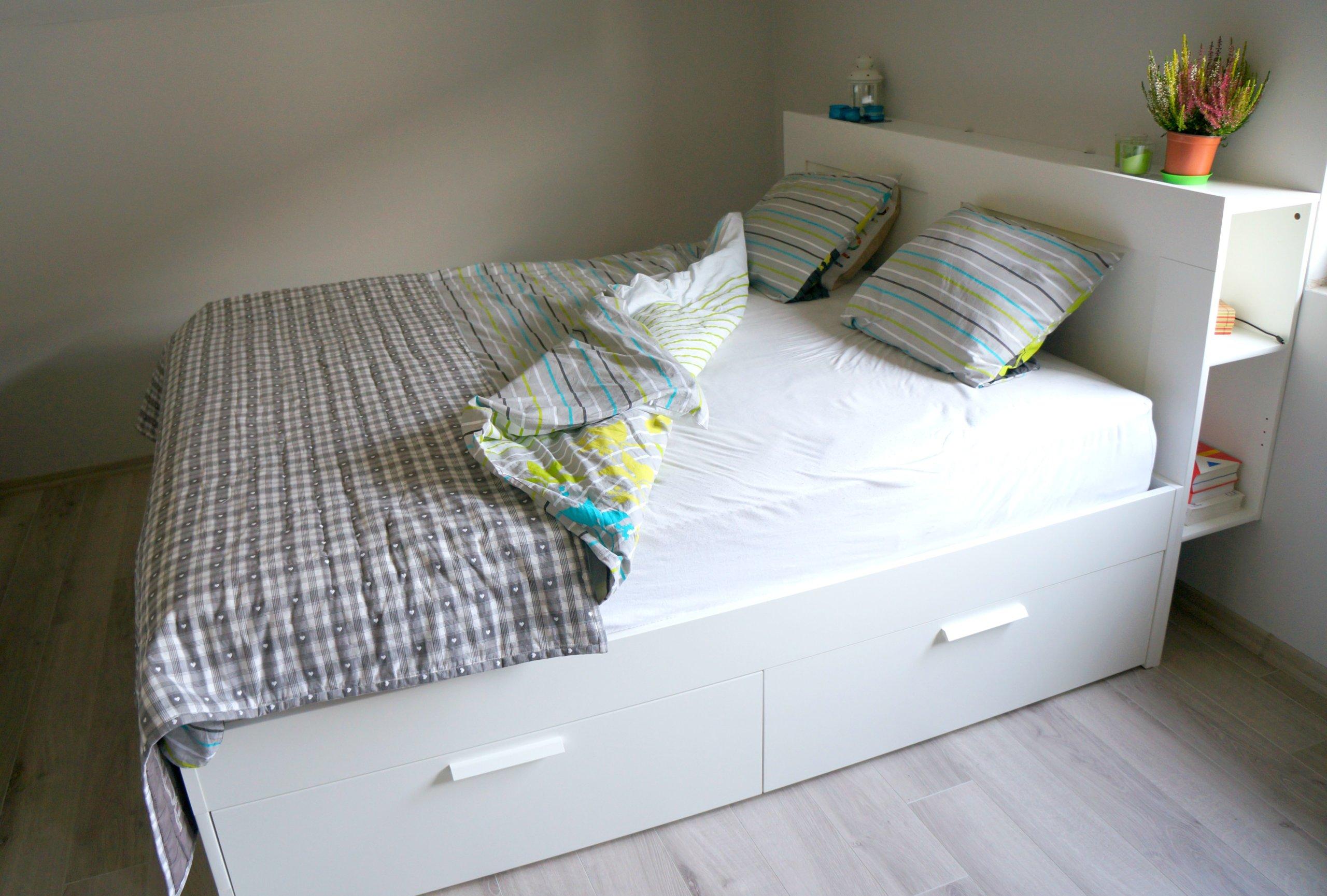 łóżko Brimnes Ikea 2 Materace 7006259318 Oficjalne