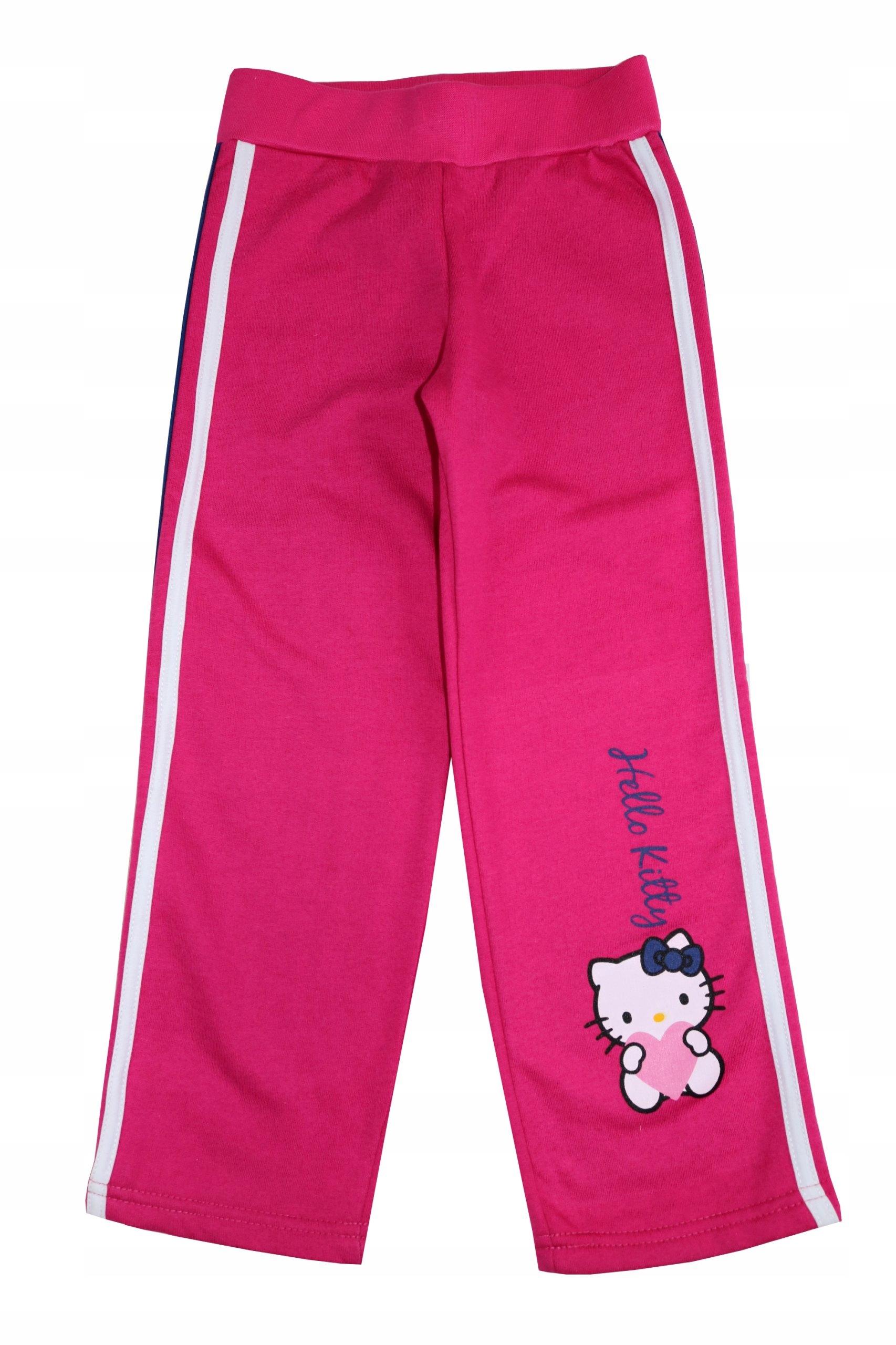 fd93c2a9adb75c Ciepłe spodnie dresowe dziewczęce Hello Kitty 110 - 7021815630 ...