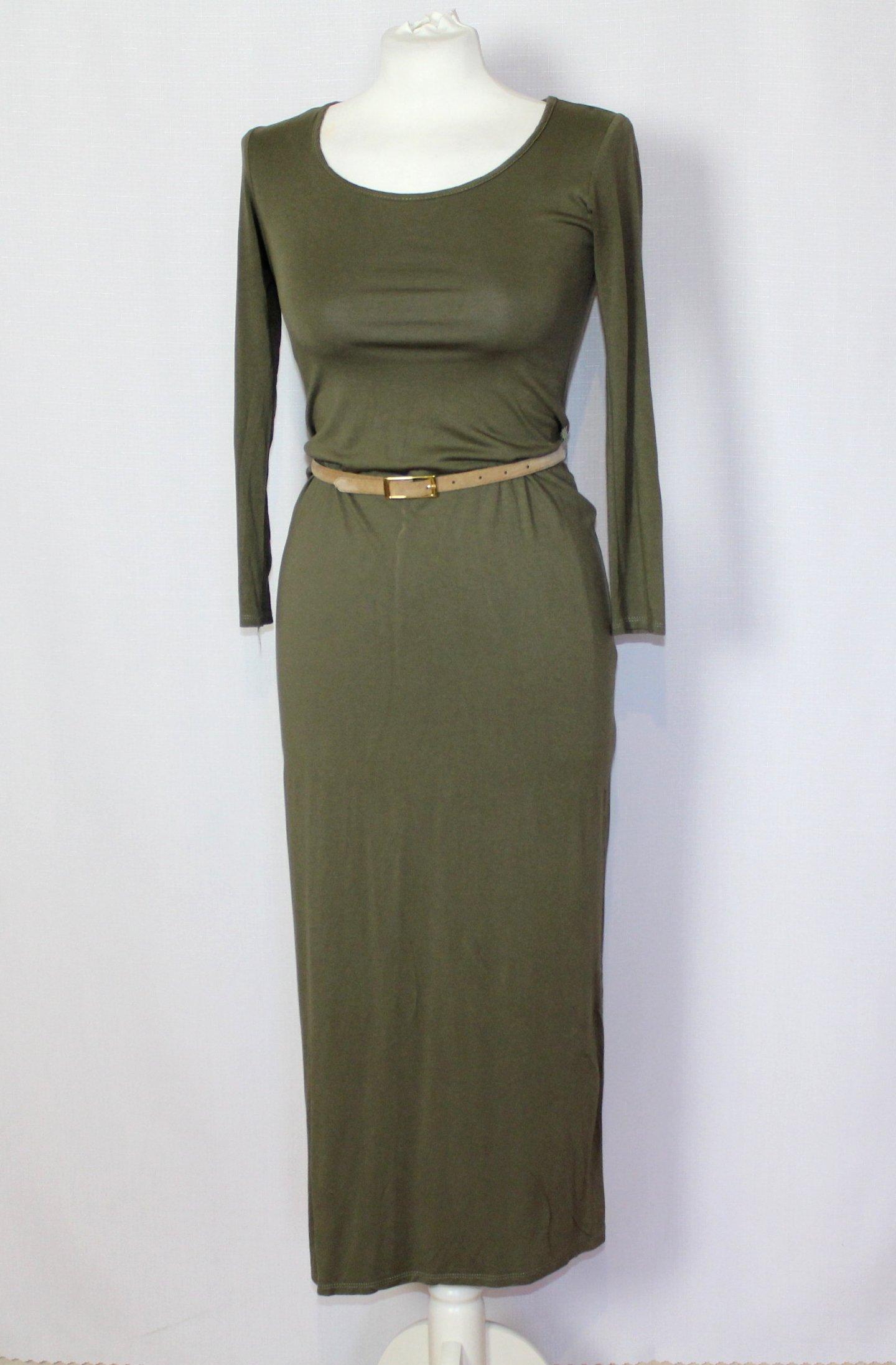 dd0e7b1767 Khaki długa sukienka ATMOSPHERE 34 XS 6 - 7214660543 - oficjalne ...
