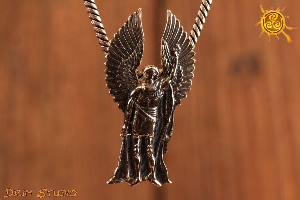 Archanioł Michał Wisiorek Srebro Amulet Talizman