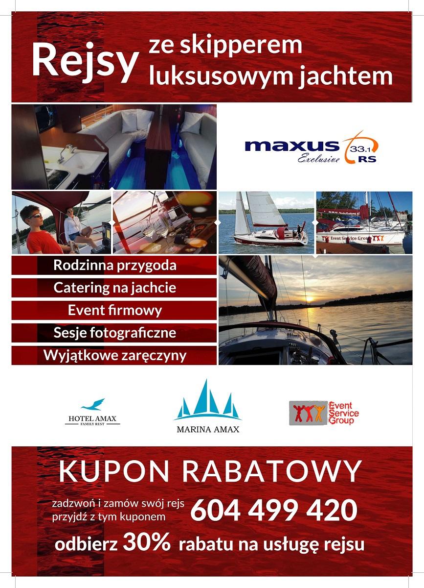 Czarter rejsy ze skipperem Mikołajki Maxus33.1RS