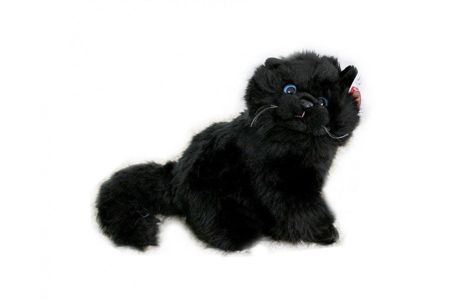 Maskotka Kot Perski Kotek Pluszowy Czarny 30cm 7440598225