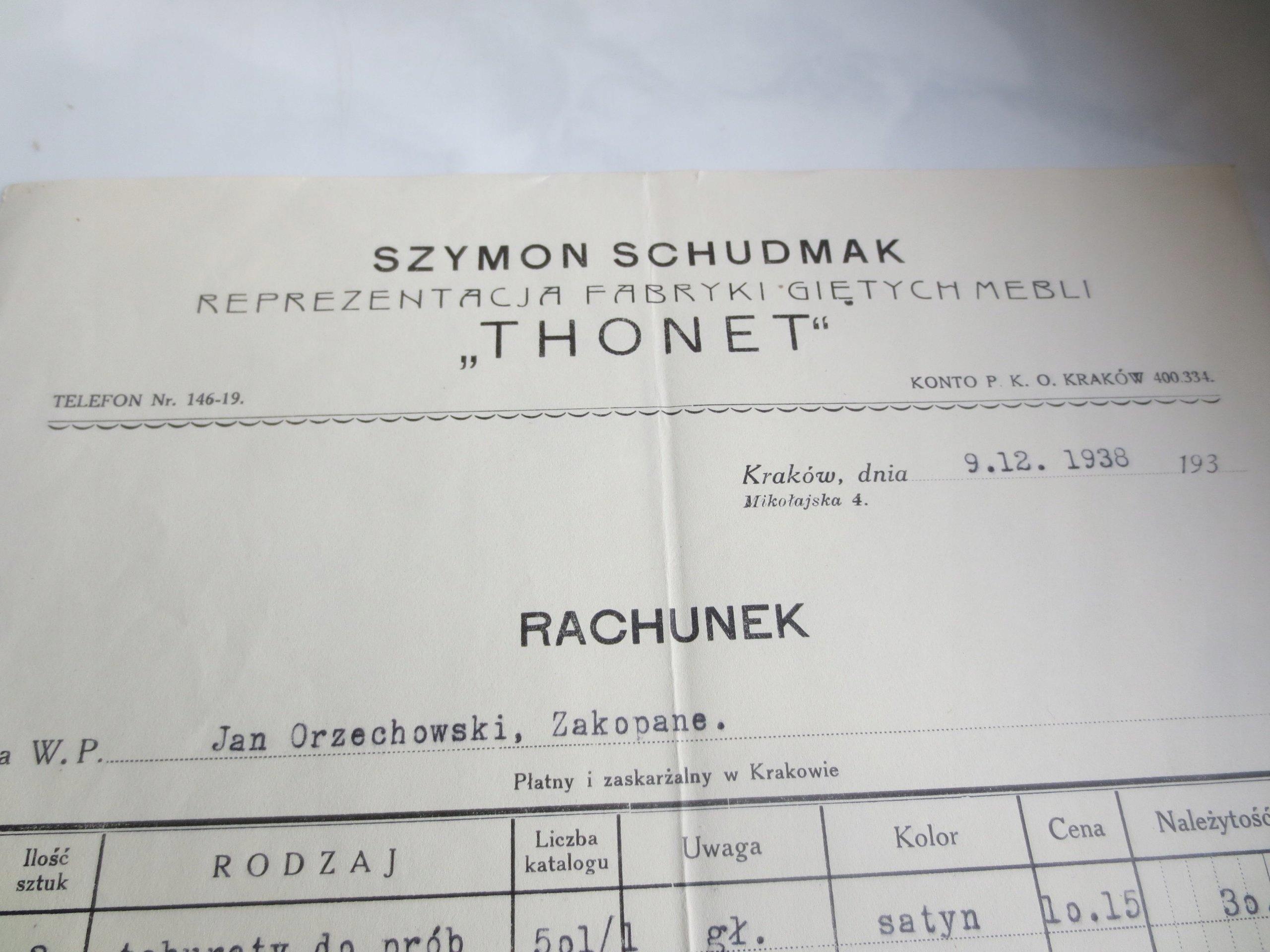 Schudmak Krakow Meble Giete Thonet Taboret Krzeslo 7425645377