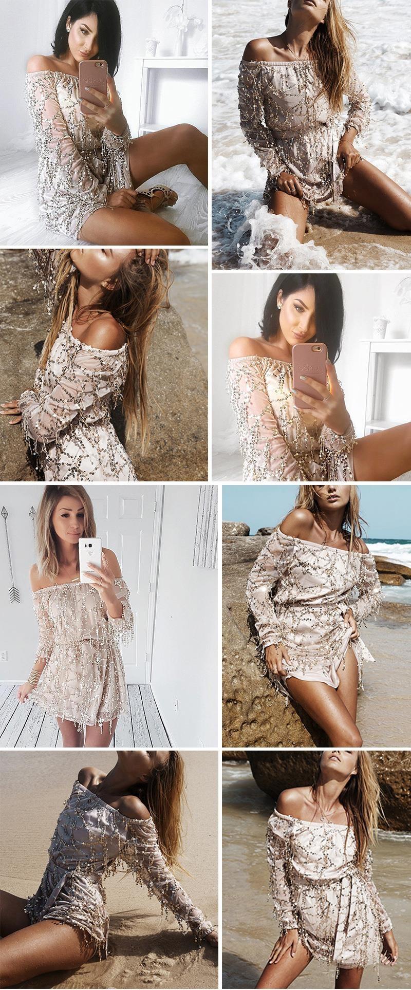 f76fa094 Prześliczna cekinowa sukienka złota IMP-63 S - 7204699631 ...