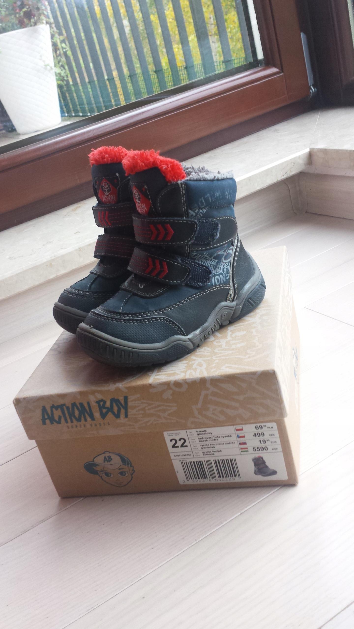 bd5082e6 Buty zimowe, chłopięce, rozmiar 22, Action Boy - 7642728209 ...