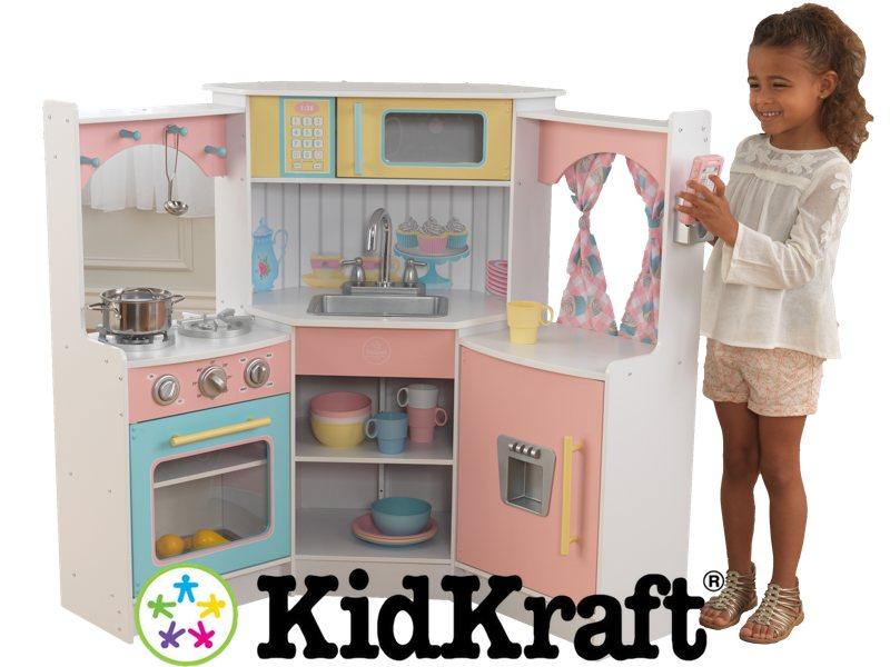Narozna Pastelowa Kuchnia Deluxe Kidkraft 6478138253 Oficjalne